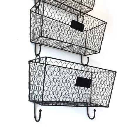 Ubesgoo Wall Mount 3tier Letter Rack Key Holder Mail Storage Organizer Good Condition Walmart Com Mail Storage Hanging Mail Organizer Wire Basket Storage