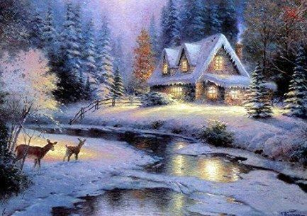 Winter Wallpaper Desktop Landscapes Thomas Kinkade 28 Best Ideas Victorian Winter Huisjes