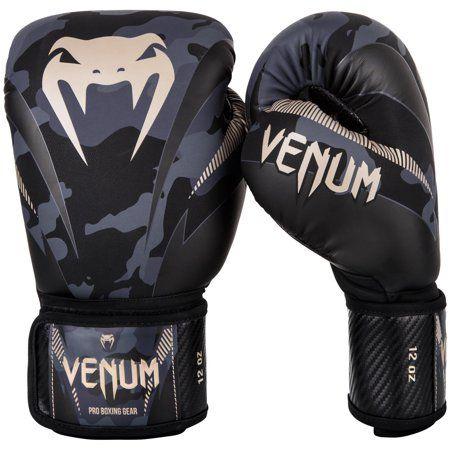 Venum Impact MMA Sparring Gloves Black White Training Sparring MMA