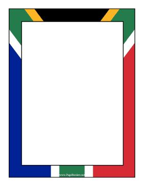 The South African Flag Makes Up The Background Of This Printable International Border Free To Download And Pr South Africa Flag Africa Flag South African Flag
