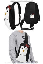 * Handy Travel Bag * Cute Penguin Kawaii Style Girl Chest Bag by at . * Handy Travel Bag * Cute Penguin Kawaii Style Girl Chest Bag by at Artsadd * Great for keeping your small accessories close by while traveling.