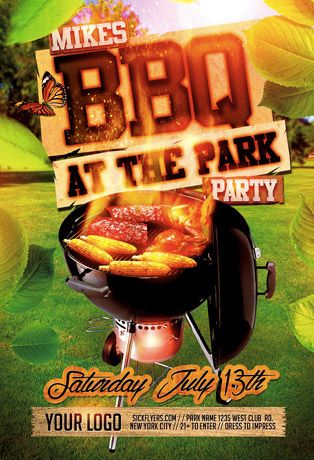 Summer BBQ Flyer Template - http\/\/wwwffflyer\/summer-bbq - bbq flyer