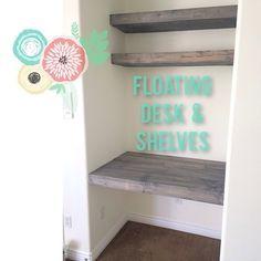 diy floating desk diy home. Working On A Floating Desk In Little Nook Of The New #guestroom :) Diy Home I
