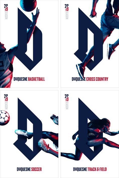 Brand New: New Logo and Identity for Duquesne University Athletics by ChangeUp
