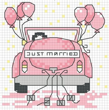 Just Married.  DMC chart.