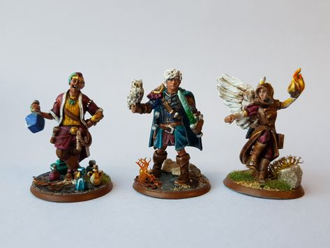Finished a trio of D&D Heroforge miniatures for my group,