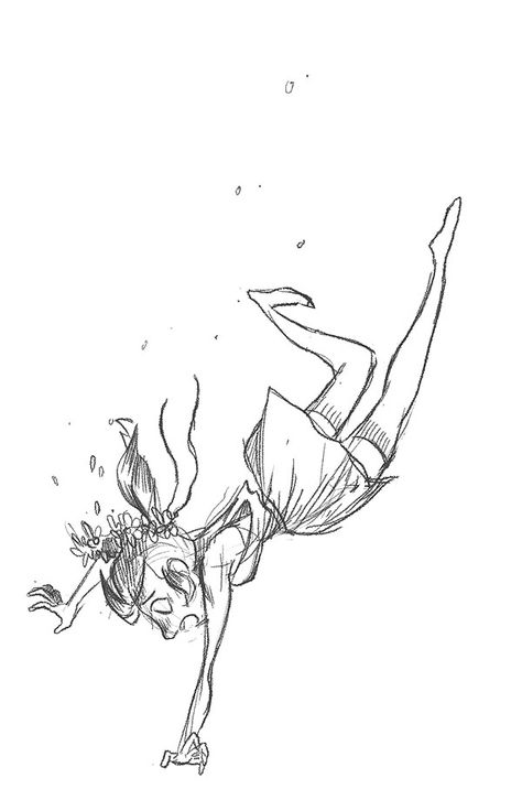 Morning Sketch Of A Falling Girl Doo Doo Doo Back To Work Drawing People Fall Drawings Fly Drawing