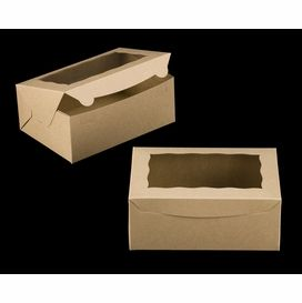 3600 10 X 7 X 4 Brown Brown With Window Lock Tab Box With Lid In 2020 Cupcake Boxes Box With Lid Cupcake Supplies