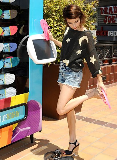 Stars — They're Just Like Us!   Old navy flip flops, Emma