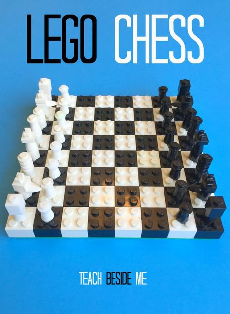 How To Make a Lego Chess Set – Astrid Schwarz How To Make a Lego Chess Set Schachspiel aus LEGO zusammenstellen *** DIY LEGO Chess Set – Playful learning of that wonderful game Lego Activities, Fun Summer Activities, Lego Games, Articulation Activities, Dice Games, Therapy Activities, Lego Design, Lego Chess, Chess Games