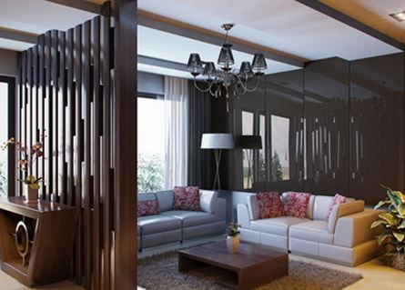 Wooden Partition Designs Between Living Dining Wooden Partition