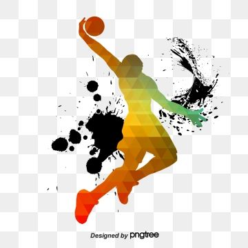 Creative Color Basketball Players Sports Bodybuilding Creative Png Transparent Clipart Image And Psd File For Free Download Basketball Drills Basketball Players Basketball