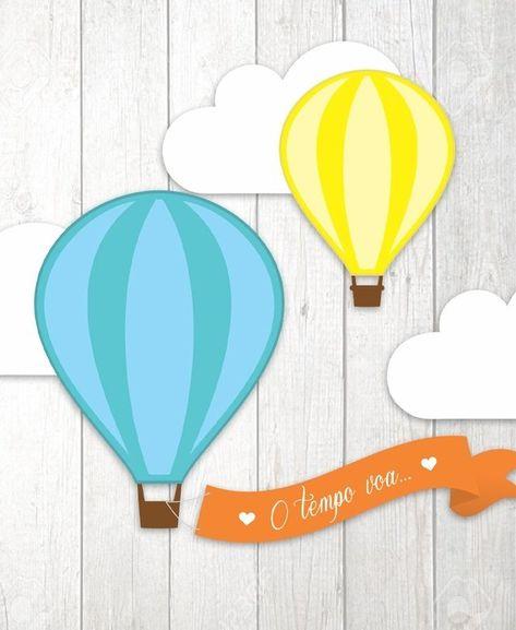 Kit Digital para mesa - Festa Balão Menino