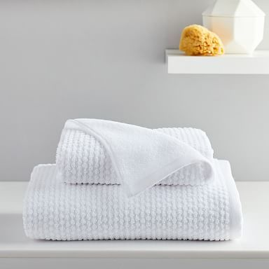 Organic Mini Dot Textured Towels In 2020 White Towels Bedding