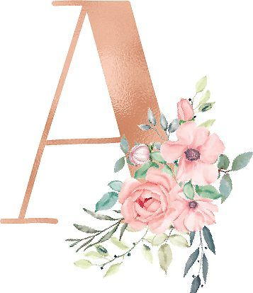 Letter A Monogram Rose Gold Pink Flowers Sticker By Kacao In 2021 Pink Painting Rose Gold Wallpaper Iphone Rose Gold Wallpaper