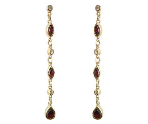 SjSilver Jewels 14K Gold Plated Simulated Diamond Studded Designer Stud Earrings