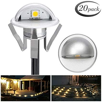 Pack Of 20 Low Voltage Led Deck Light Kit I 1 38 Waterproof Outdoor Step Stairs Garden Yard Patio Landscape Deco Led Deck Lighting Deck Lighting Outdoor Steps