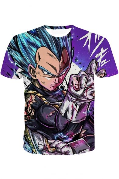Cool 3d Comic Character Printed Short Sleeve T Shirt Goku T Shirt Holiday Hoodies New Dragon