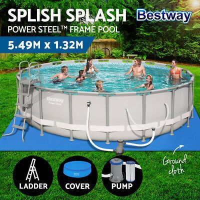 Details About Bestway Above Ground Swimming Pool Power Steel Frame Pro Fun Pool Hydrium Pool Cool Pools Above Ground Swimming Pools