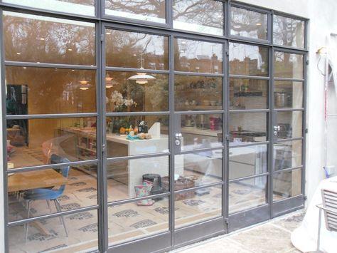 Lightfoot Windows (Kent) Ltd using Crittall Steel Doors onto the garden