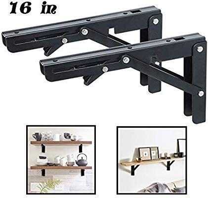 Folding Shelf Brackets Heavy Duty Metal Collapsible Shelf