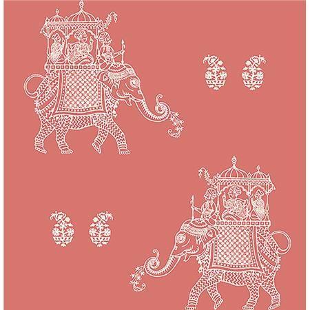 Nu2078 Caravan Peel And Stick Wallpaper By Nuwallpaper Peel And Stick Wallpaper Coral Wallpaper Elephant Wallpaper