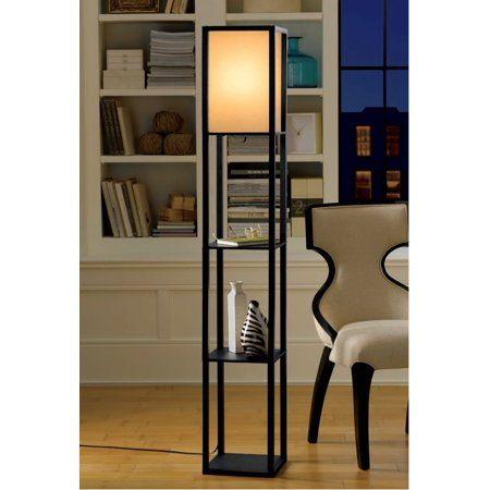 Home Black Floor Lamp Wooden Floor Lamps Floor Lamp With Shelves