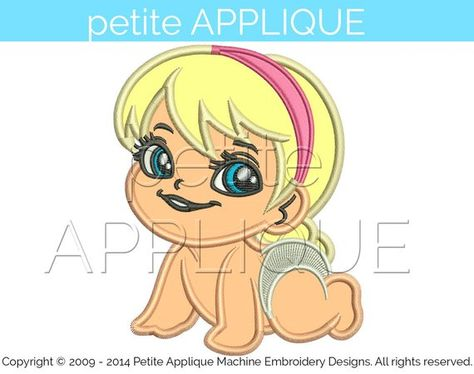 cute baby elsa Applique Design for Embroidery Machines Instant Download - 1 size