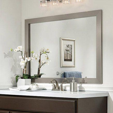 Mirror Frame Ideas Bathroom Mirror Ideas Brushed Chrome