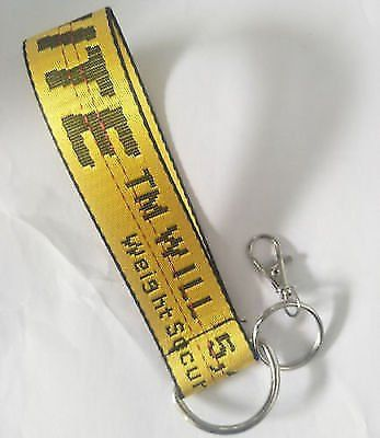Off White Lanyard Short Keychain Id Badge Cell Iphone Holder
