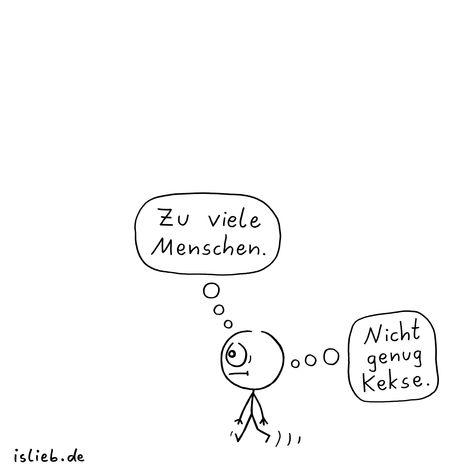 Genau falsch! Is lieb?   #menschen #kekse #strichmännchen #islieb
