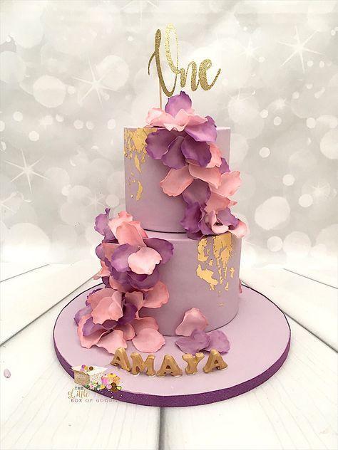 New Birthday Cake Pink Flowers Purple 59 Ideas New Birthday Cake