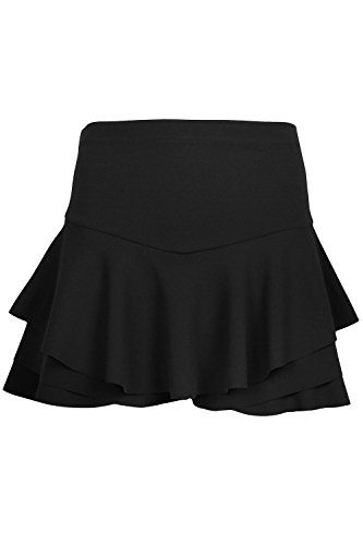 Womens Skorts Ladies Mini Skirt Frill Shorts High Waisted Ruffle Layer Skort