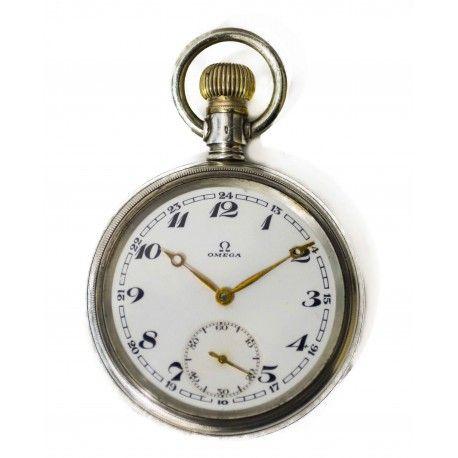 mas fiable precio baratas nuevo estilo de 2019 Antiguo reloj de bolsillo, de la marca Omega, en plata ...