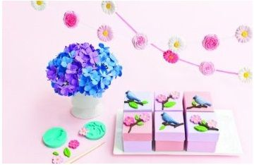 Create your own dimensional clay embellishments and decorations with this easy-to-use Crafter's Clay Nature Starter Kit from Martha Stewart Crafts. Non-toxic, air-drying molding compound can be used with silicone molds or free form to become beautiful flowers, leaves, and bird. No baking required, air-dries in 24 hours and can then be left natural or finished with paint, glitter or sealed (not included).