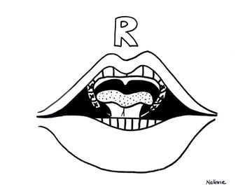 Articulation Mouth Coloring Page R Phonology Coloring Pages