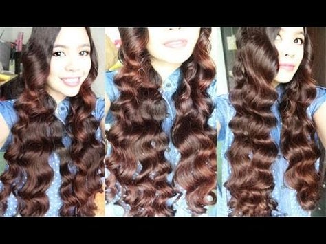 No Heat Car Sponge Curls on Long Hair Comfy Overnight Heatless Curls