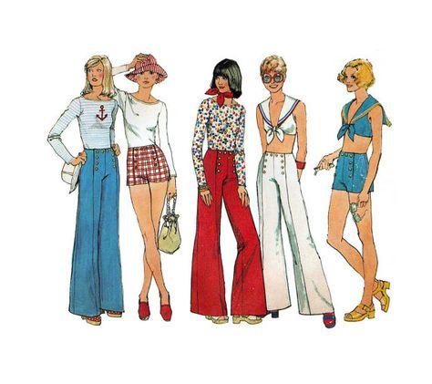 Retro Size 10 12 Medium Large Vintage 80s 90s Sailor Pants Set Co Ord Set M L Coordinated Outfit Nautical Hipster Shoulder Pads