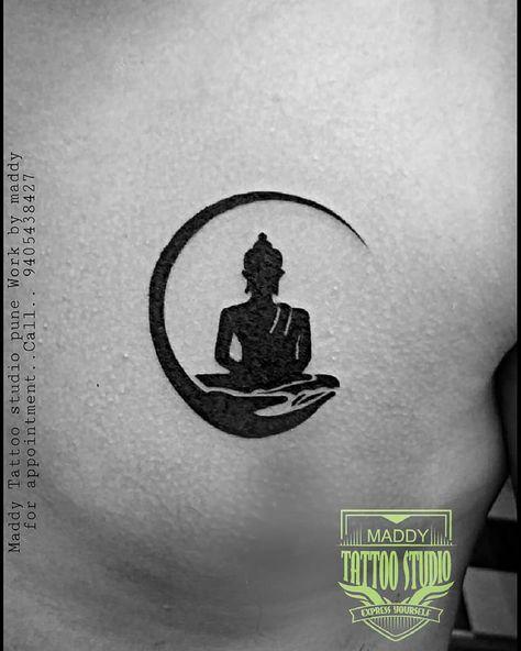 maddy tattoo studio pune  #buddha #buddhatattoo #karmatattoo #karma #tattooonchest #tattooforman #tattoomodle #worldtattoo #punetattoo #munecamp bast tattoo shop in pune mg road camp