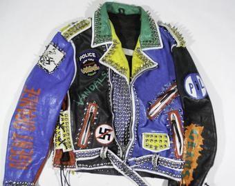 nouveau concept 2c922 ae569 Personnalisé veste clouté veste Punk Punk clouté en cuir ...