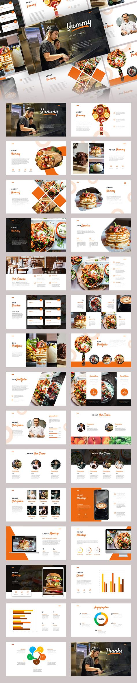Yummy - Food Google Slide Template