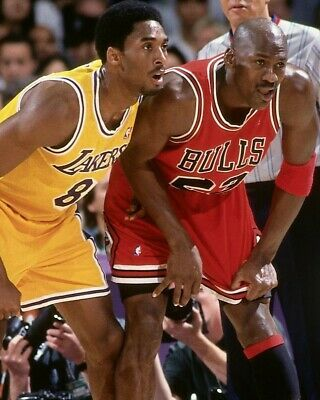 Details About Michael Jordan Vs Kobe Bryant 8x10 Photo Chicago Bulls Basketball Nba La Lakers In 2020 Michael Jordan History Michael Jordan Micheal Jordan