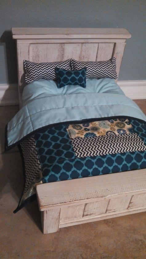 American Girl Doll bed so cute!