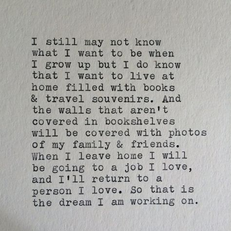 Love and Travel Typewriter Quote / Handtyped On by WhiteCellarDoor