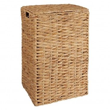 Nahla Rectangular Water Hyacinth Laundry Basket With Lid Buy Now At Habitat Uk In 2020 Laundry Basket With Lid