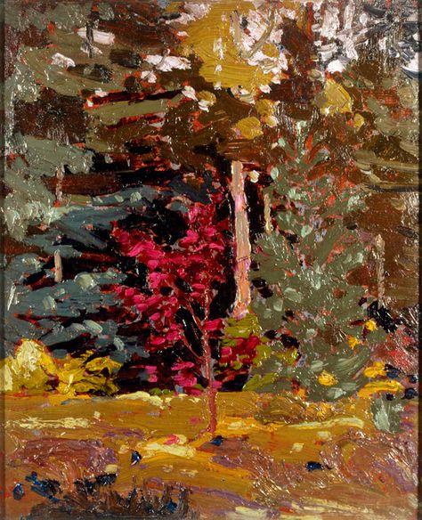 Tom Thomson Catalogue Raisonné | Maple Sapling, Algonquin Park, Fall 1915 (1915.87) | Catalogue entry