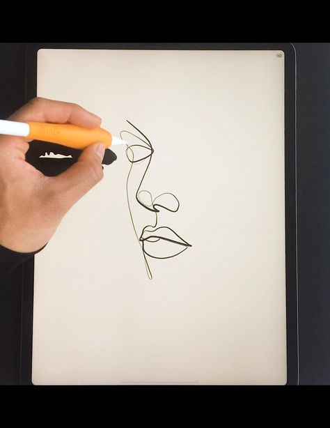 Using a minimal and abstract drawing technique to create one-line portraits.  Tools:  Procreate App Apple iPad Pro 8th Gen Apple Pencil 2nd Gen