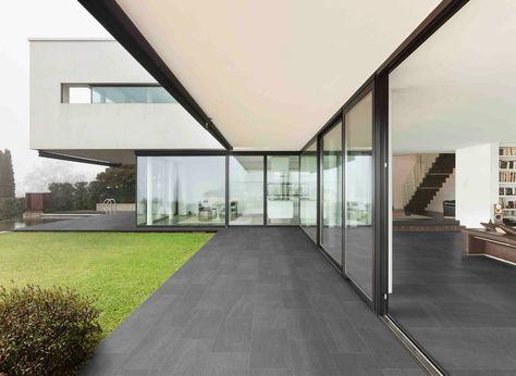 Ceramica Magica Basalt - Graphite floor 30x60 chiselled #outdoor - glas küchenrückwand fliesenspiegel