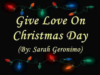 Give Love On Christmas Day.Chirstmas 2018 Give Love On Christmas Day Lyrics