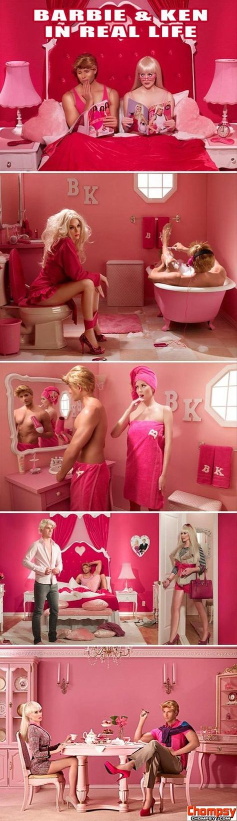 barbie and ken in real life funny pictures...lmao
